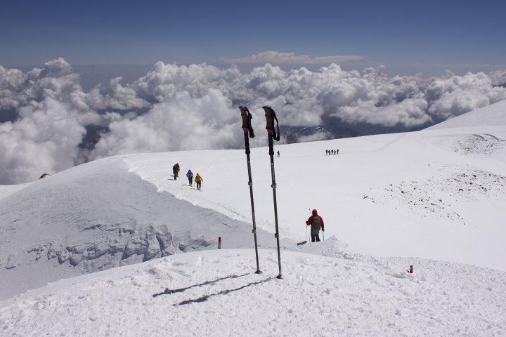 Вид с вершины Эльбруса