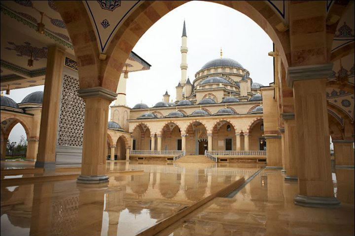 Мечеть Сердце Чечни внутри