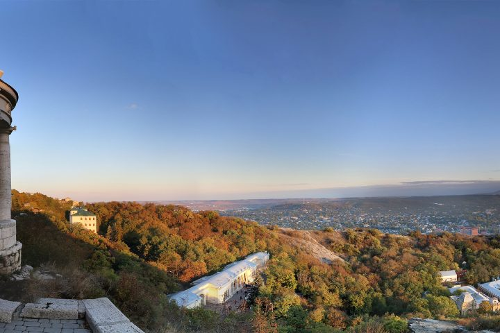 Пятигорск беседка Эолова арфа и панорама города