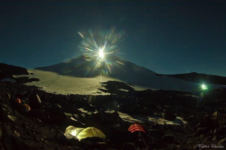 Штурмовой лагерь 3800 м.